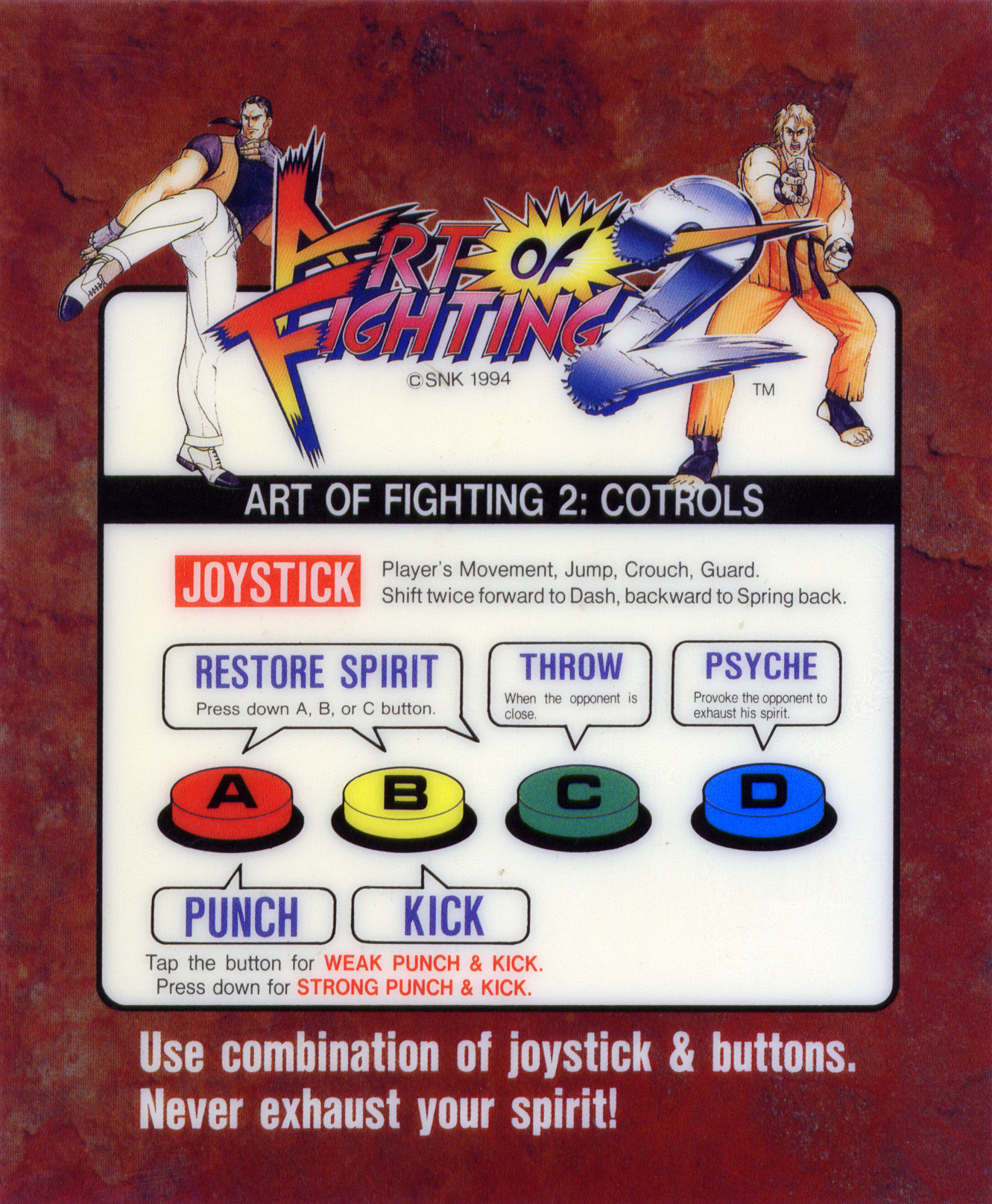 Art Of Fighting 2 Ryuko No Ken 2 Neo Geo Aes Mvs