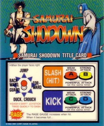 Mini-Marquee Samurai Shodown
