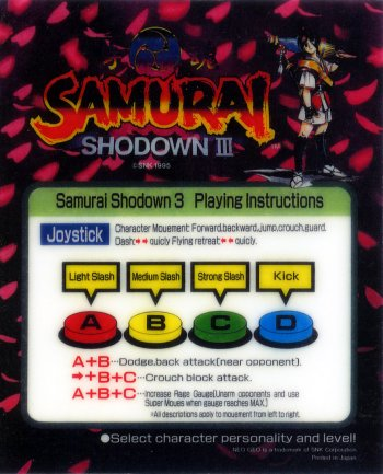 Mini-Marquee Samurai Shodown 3: Blades of Blood