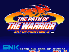 PCB Art of Fighting 3: Path of the Warrior