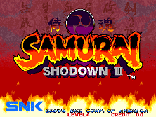 PCB Samurai Shodown 3: Blades of Blood